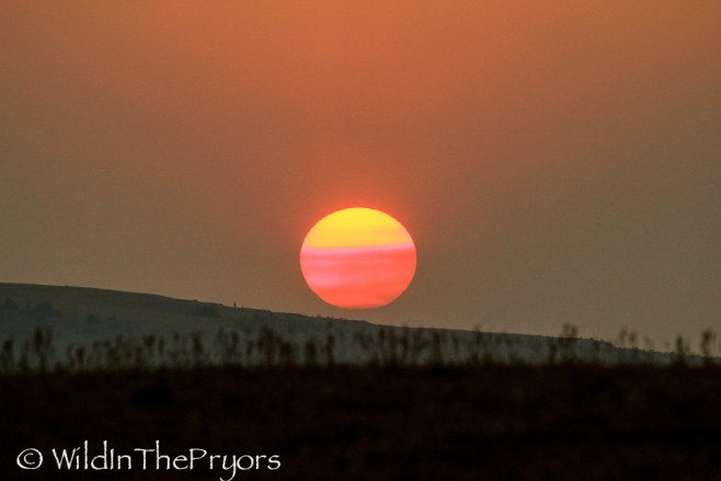 A Wildfire influenced sunset at the end of that day, August 2012.