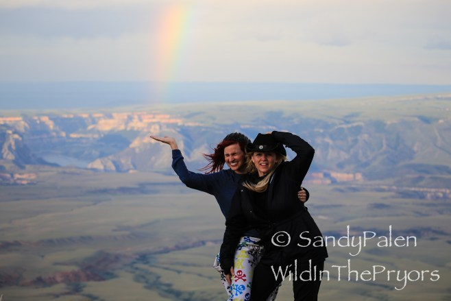 Maybe a chance to catch a rainbow. View of the Bighorn Canyon from the mountain top.