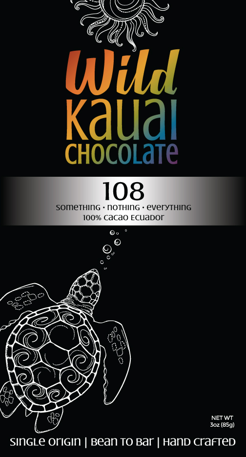 Wild Kauai Chocolate 108 Cacao Bar