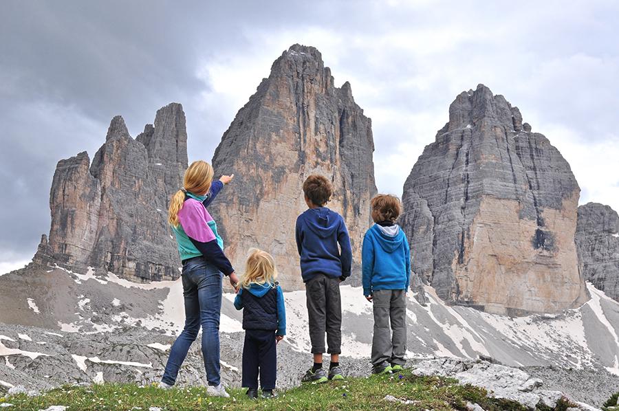 Alpes con niños. Dolomitas.