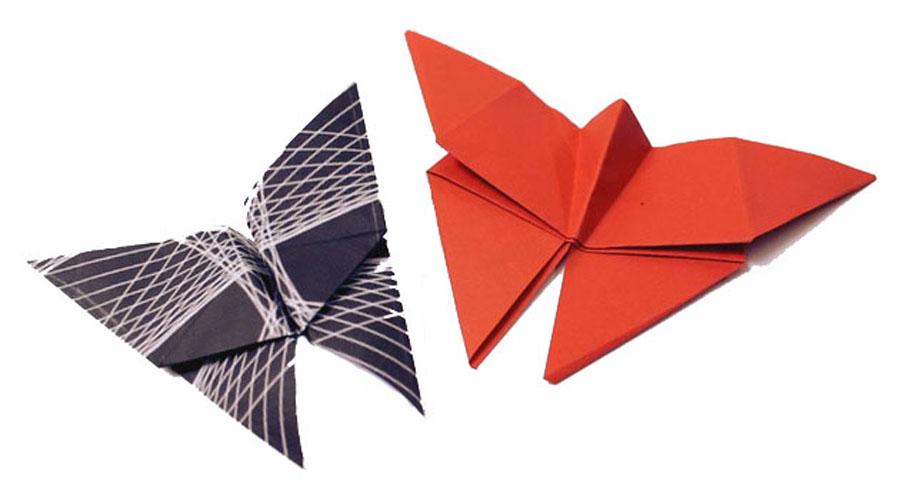 Origami mariposa. Imagen: hellokids.com