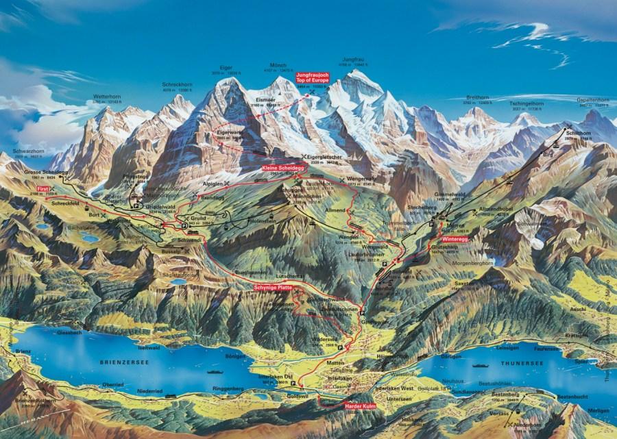 Jungfrau-Region alpes con niños