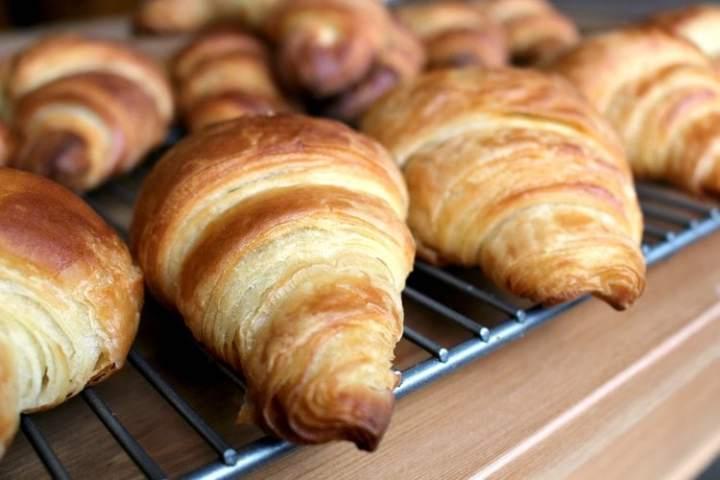 Flaky fuffy croissants