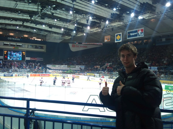 At my first ever ice hockey game. Prague vs Ostrava