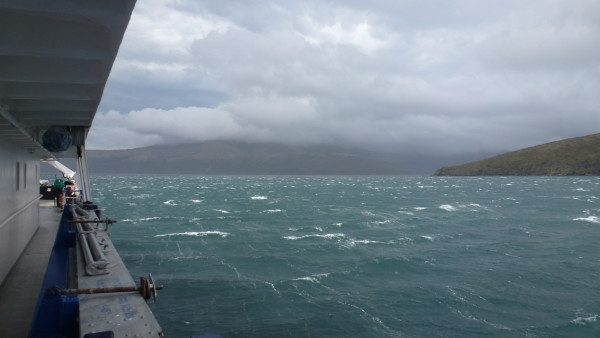 The weather coming away in Carnley Harbor