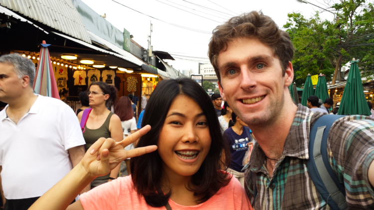 My couchsurfing host MoA who showed me around Chatuchak