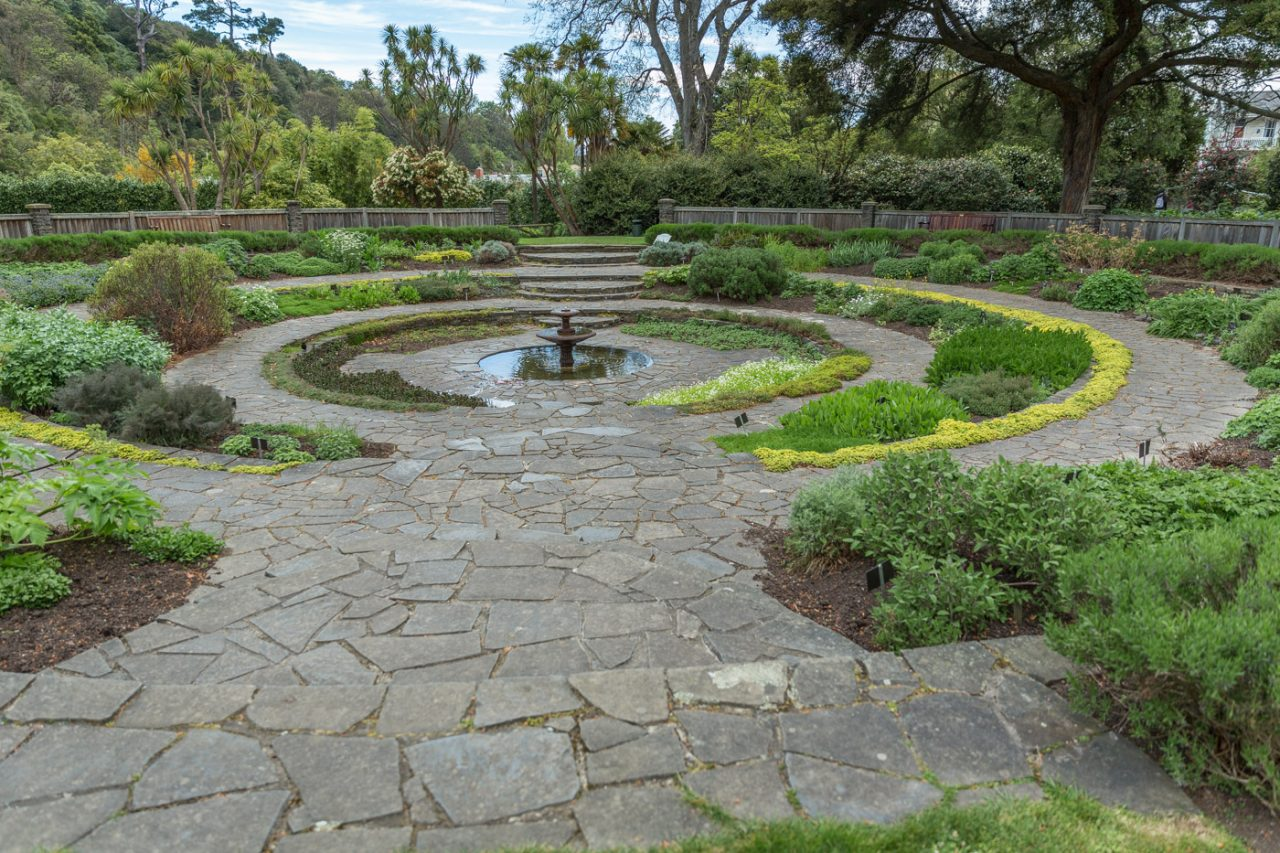 Herb Garden at the Dunedin Botanical Gardens, South Island, New Zealand