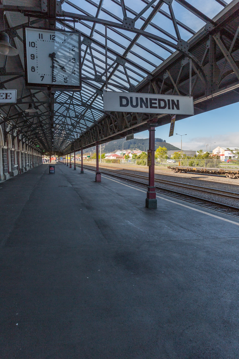 Dunedin Rail Station Platform, South Island, New Zealand