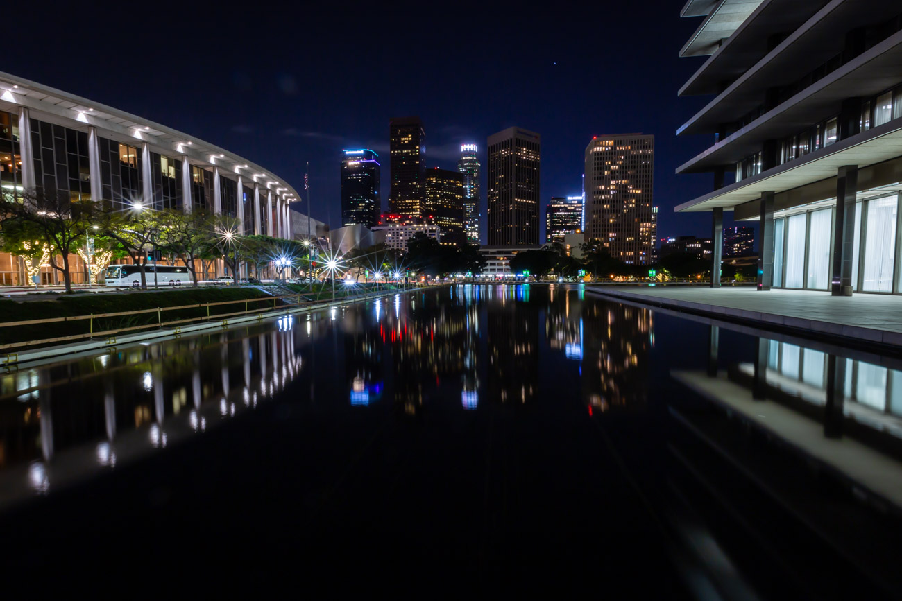 Night photograph of Downtown LA, Downtown Los Angeles