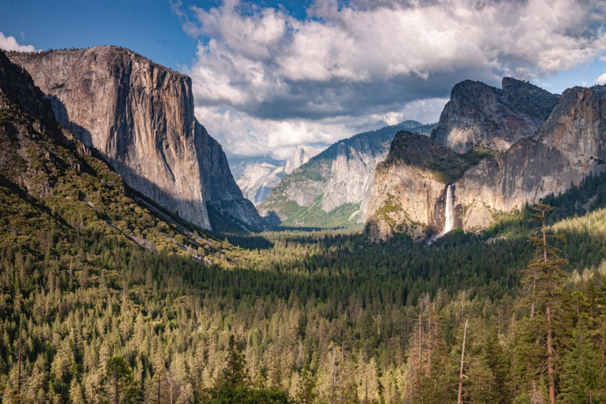 Tunnel view is one of the great spots for pictures in Yosemite Valley.