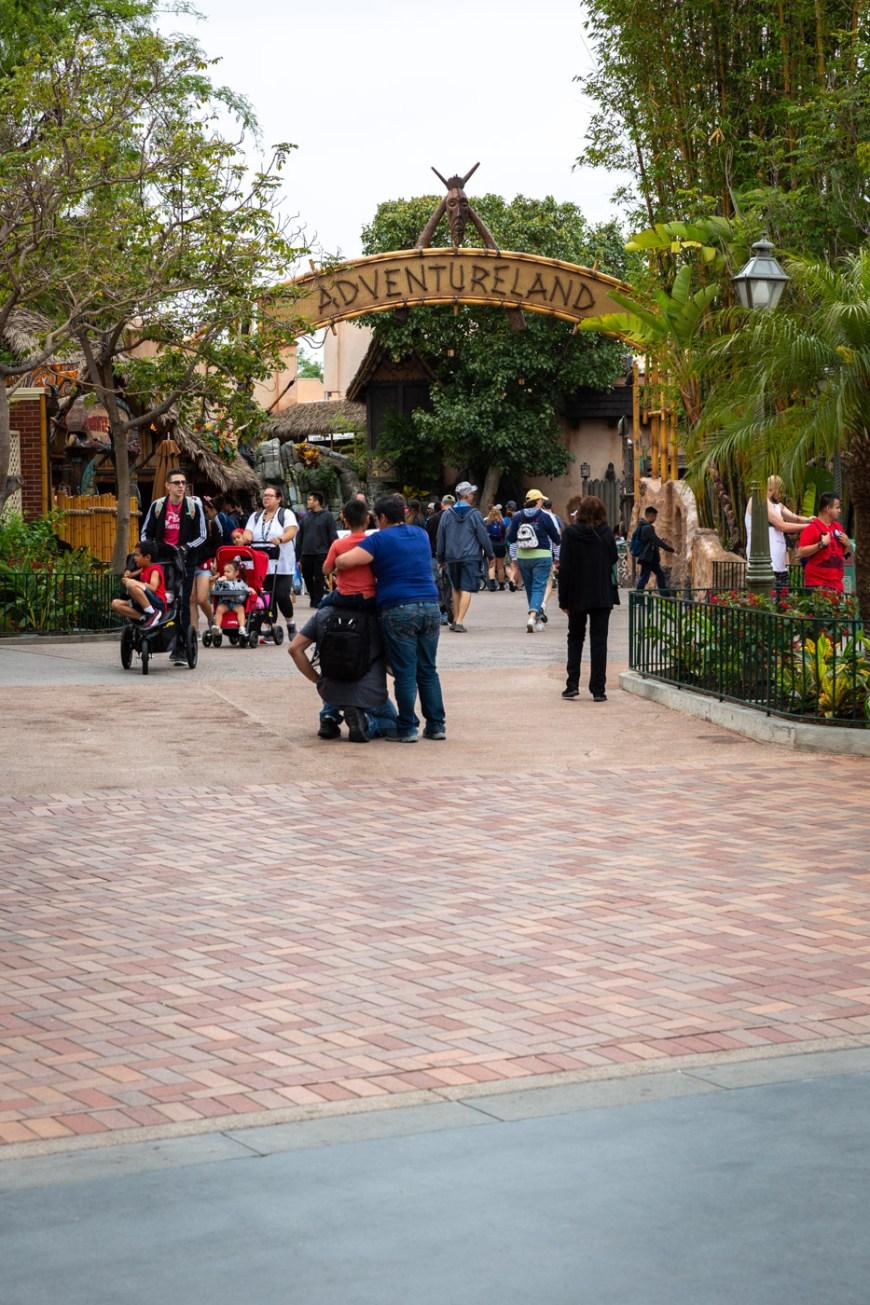 Adventureland sign at Disneyland.