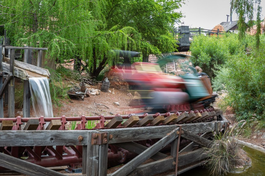 Big Thunder Mountain Railroad at Disneyland.