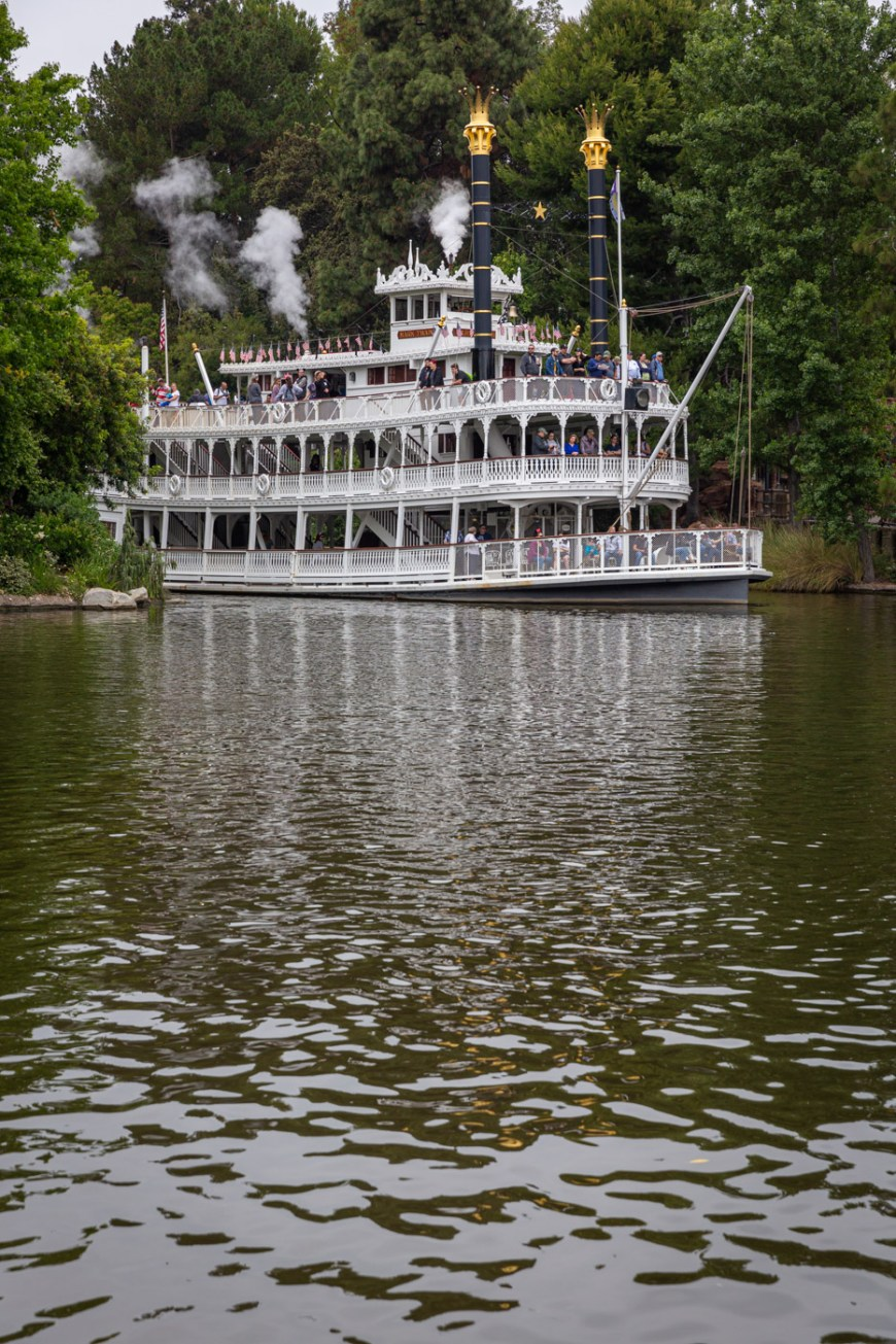 The Mark Twain Riverboat at Disneyland