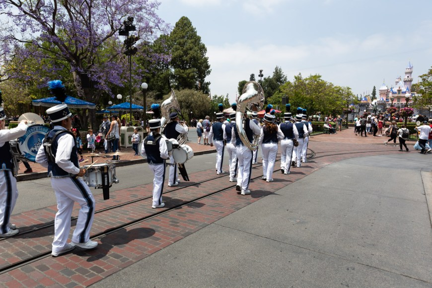 Main Street marching band Disneyland