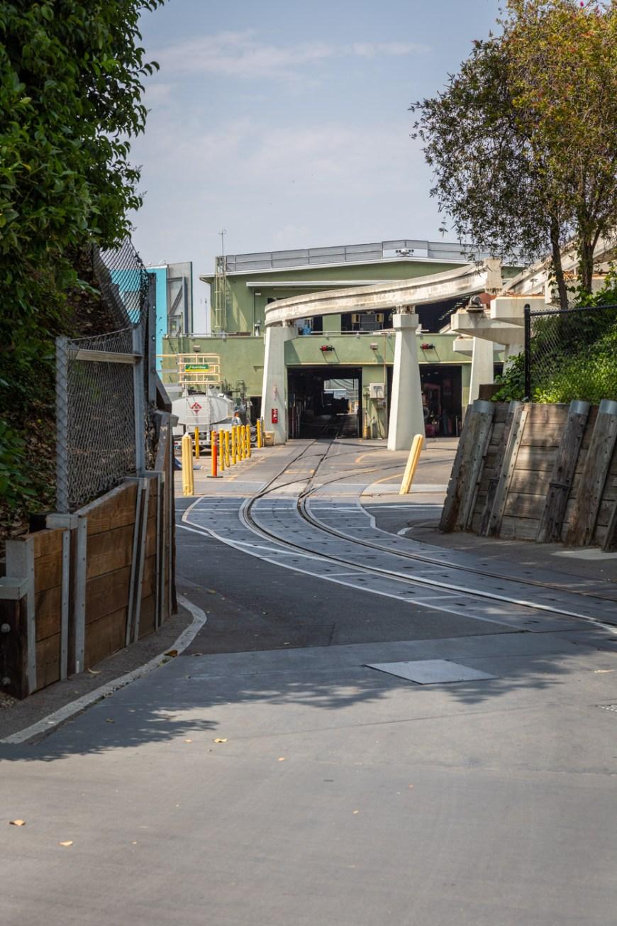 The Disneyland Railroad roundhouse, Fantasyland, Disneyland