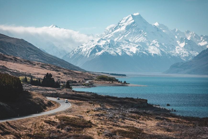 Wanaka to Mount Cook, South Island, New Zealand