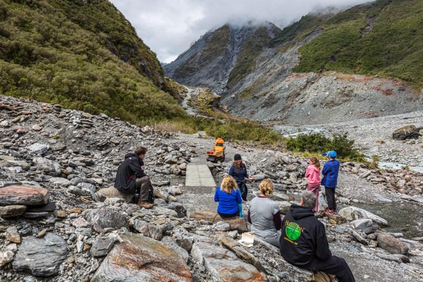 New Zealand Waterfalls. New Zealand's Fox Glacier