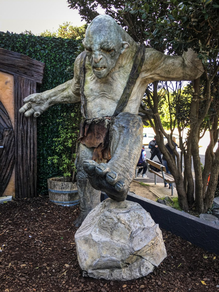 The Lord of the Rings, Weta Workshop tour, Wellington, North Island, New Zealand. Picton to Wellington
