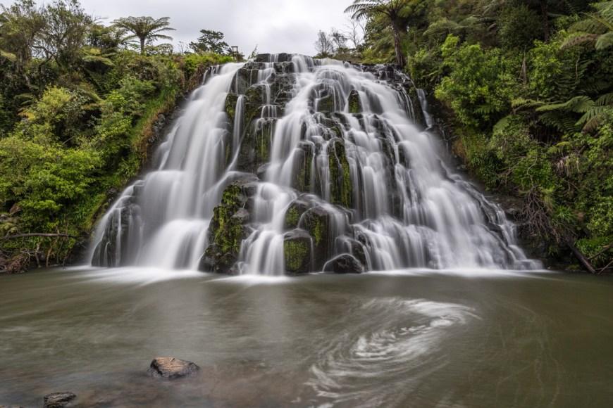 Roadside Water Fall, Paeroa, North Island, New Zealand.