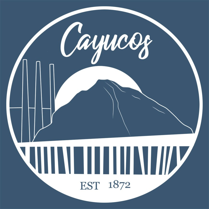 Cayucos, CA patch and sticker logo.