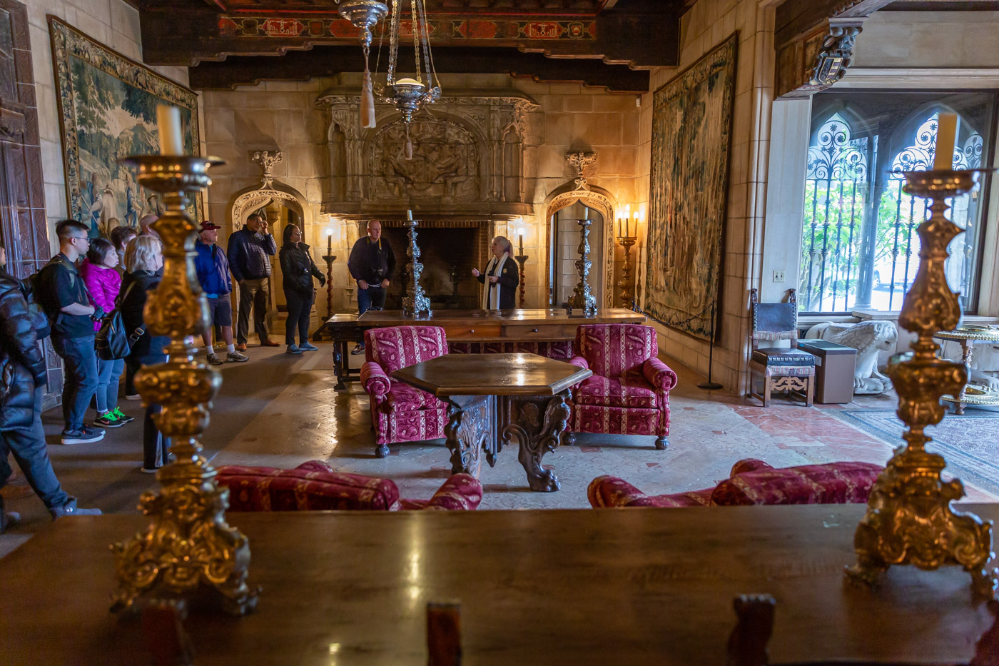The Morning Room, Grand Rooms Tour. Hearst Castle Tours