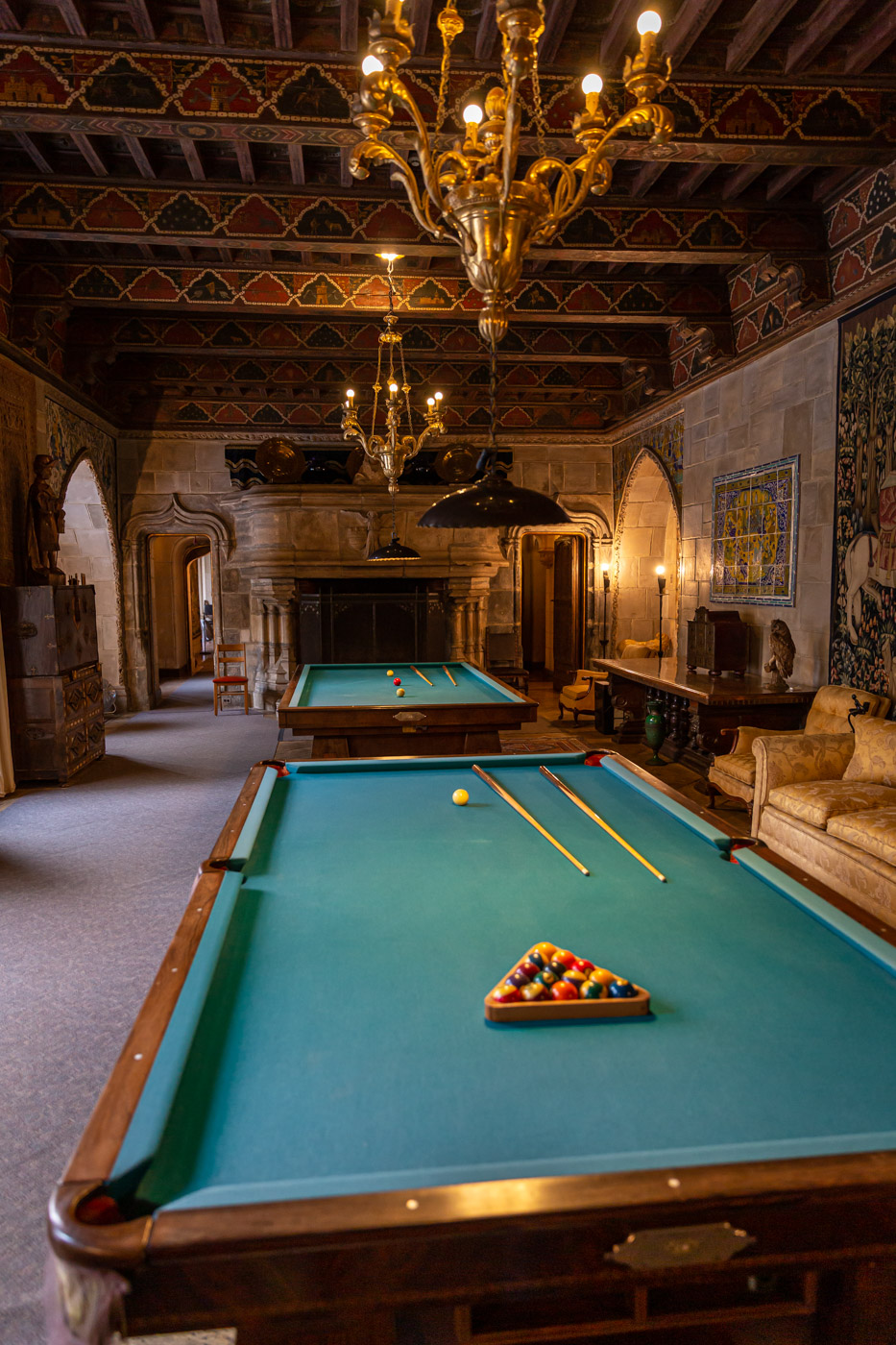The Billiard Room, Grand Rooms Tour. Hearst Castle Tours