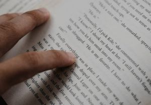 The Wild Lark Books Fund Website Finger and Book