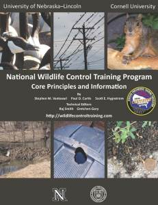National Wildlife Control Training Program: Core Principles and Information