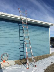 Little Giant-type ladder used on one-floor structure. Photo: Stephen M. Vantassel.