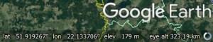 Google Earth Status bar