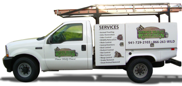 Nuisance Wildlife Removal Truck