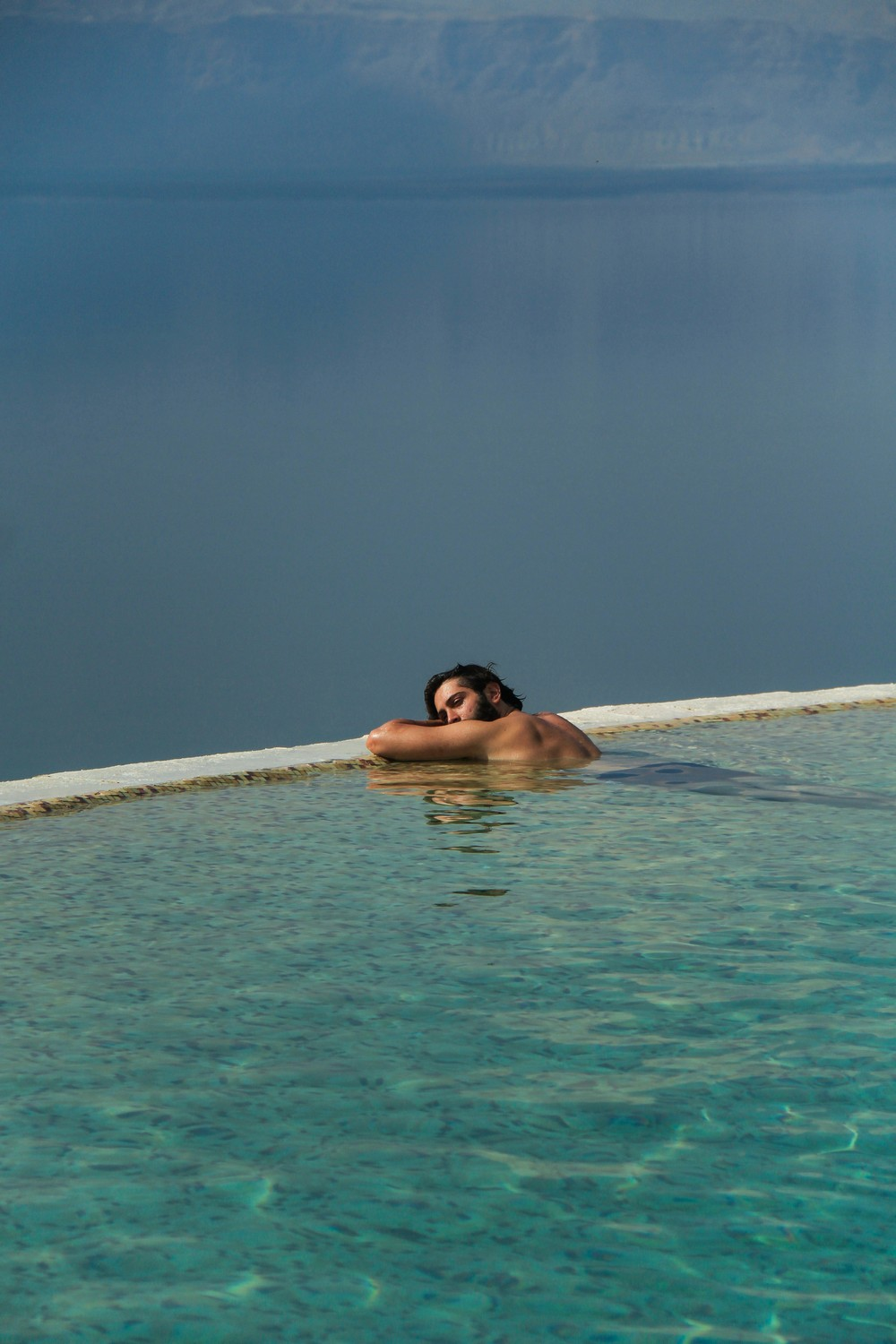 Dead Sea heated infinity edge pool Kempinski