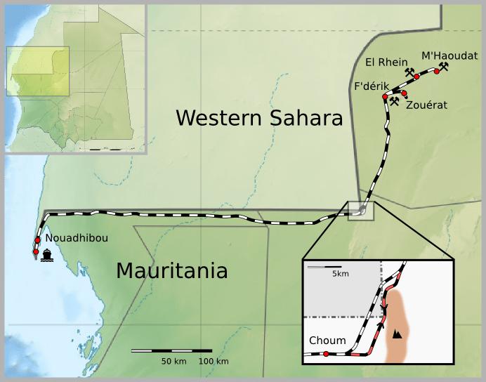 Map_Mauritania_Railway