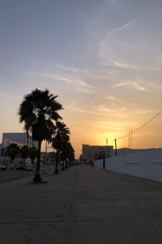 Mauritania Nouakchott streets Sunrise
