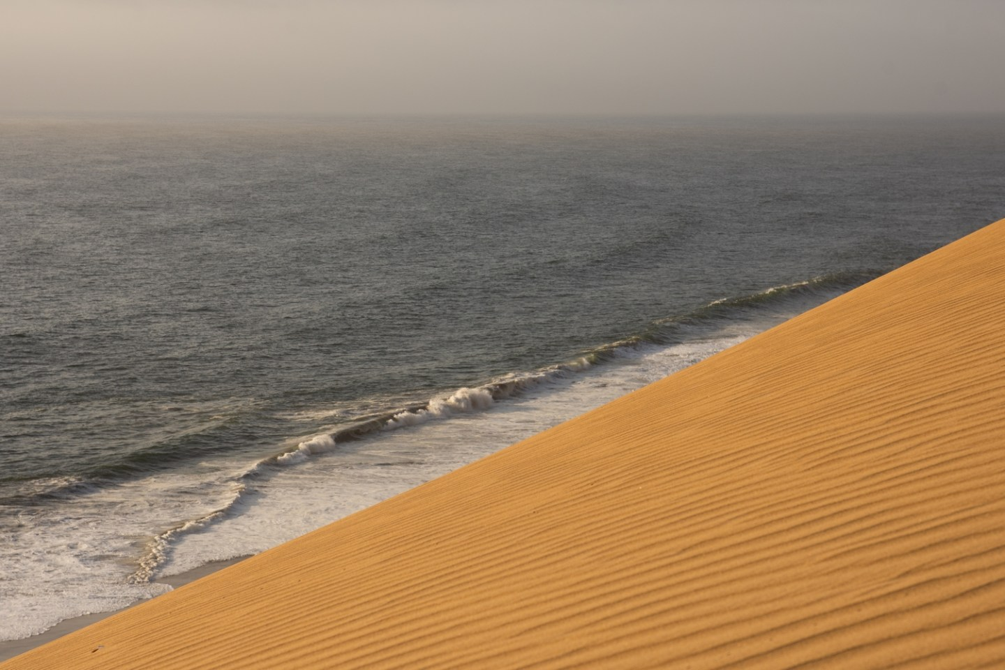 Wheere the Namib Desert meets the Atlantic Ocean