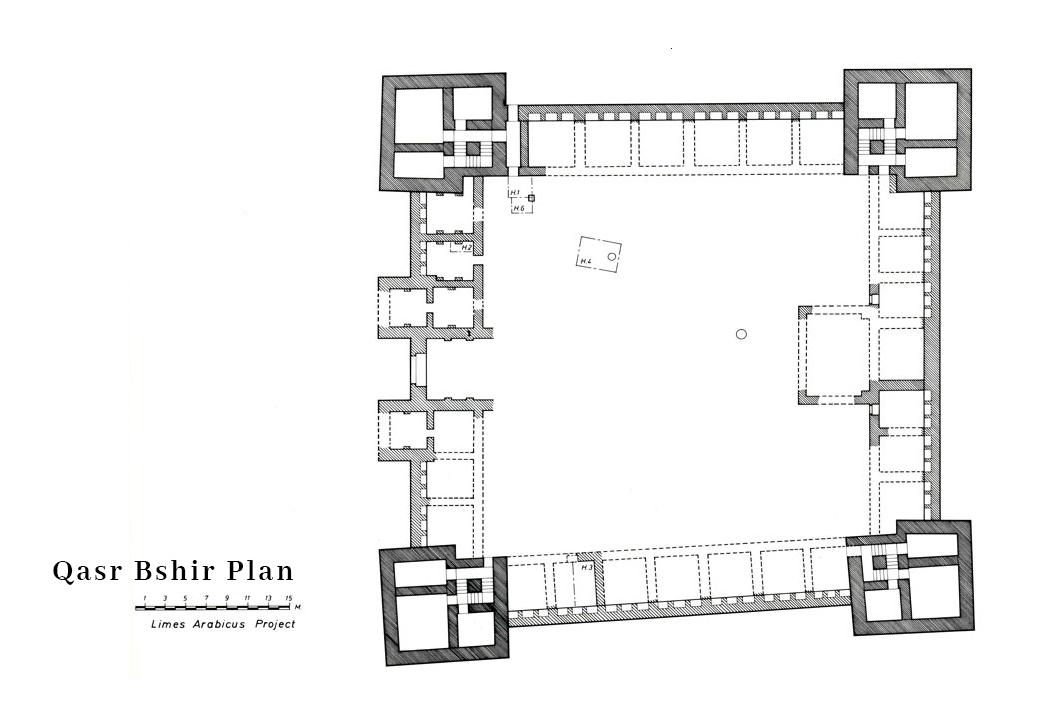 Qasr Bshir Fortress Plan
