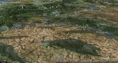 """Flight track overview - """"IFR"""" = I Follow Rivers/Roads"""