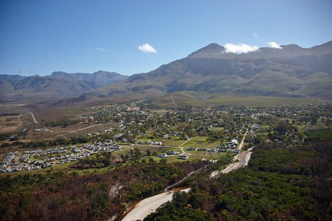 Greyton from the air.  Photo courtesy of The Aerial Perspective
