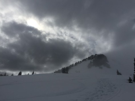Moody weather while out back-country skiing in the Sea-to-Sky mountains