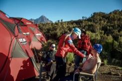 Lung ultrasound training at 3500m on Kilimanjaro