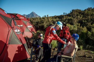 Lung ultrasound training at 3500m on Kilimanjaro