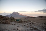 Mawenzi at sunset from Kibo Camp (4700m)