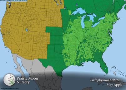podophyllum peltatum range map