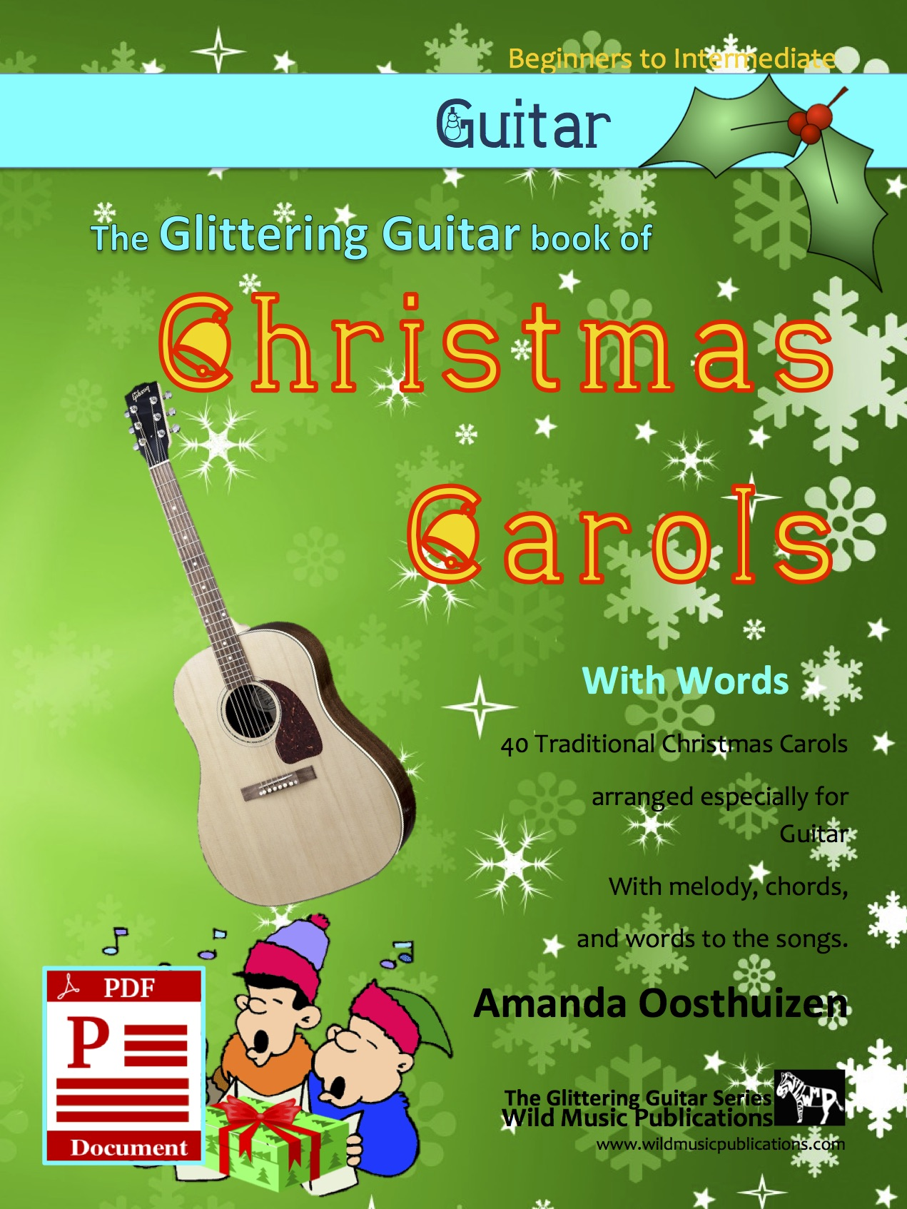 Christmas Carols For Guitar With Words Wild Music Publications