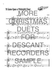 More Christmas duets 2 descant recorders web sample