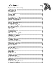 Christmas Carols Contents web sample