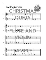 Christmas Duets for Flute and Violin web sample