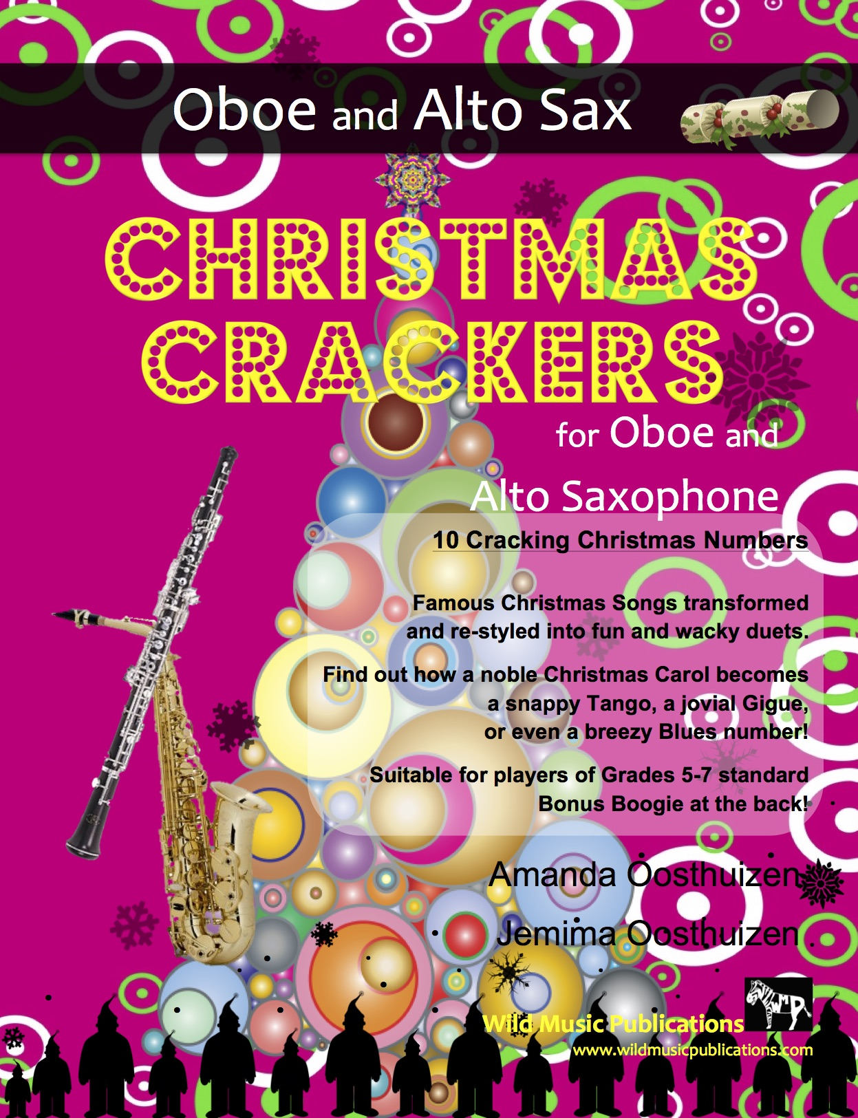 Christmas Crackers for Oboe and Alto Saxophone - Wild Music Publications