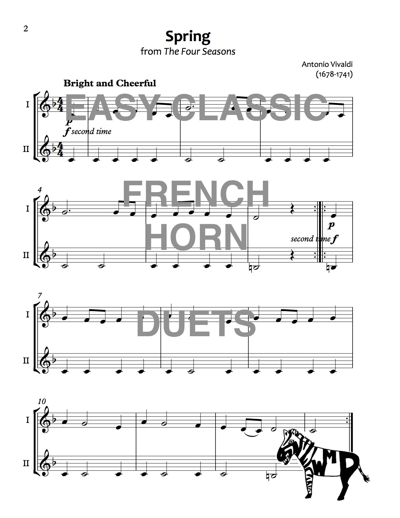 Easy Classic French Horn Duets Download