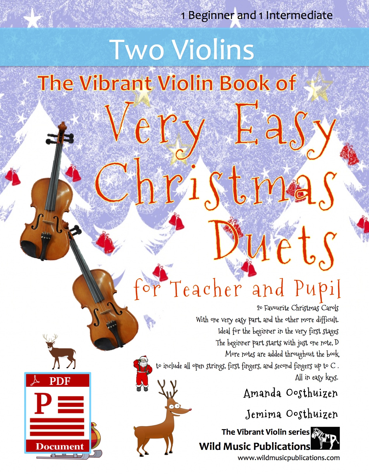 The Vibrant Violin Book of Very Easy Christmas Duets for Teacher and Pupil  Download - Wild Music Publications